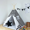 Factory sale wooden pole canvas fabric children kids play indian teepee tent