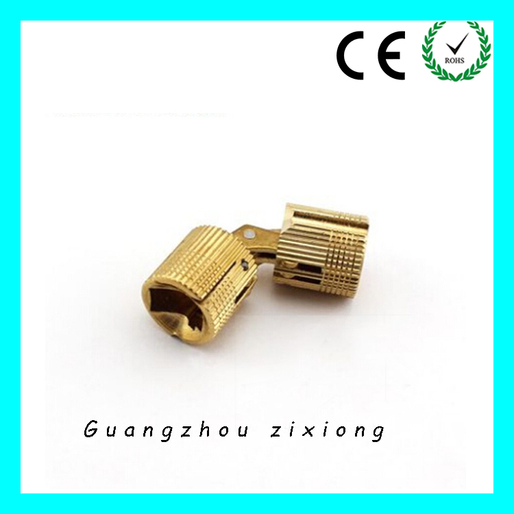 Solid Brass Invisible Furniture Hinge Small Copper Barrel Concealed Hinge