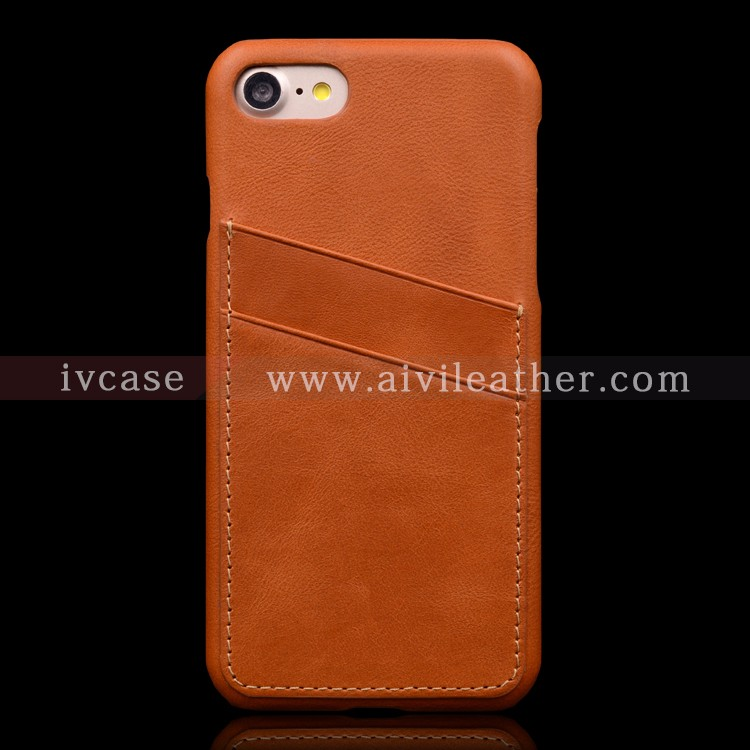 Hand Work Back Leather Phone Case for Iphone 7