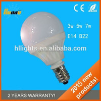 2015 Top Quality China 12v New mr16 Dimmable E14 5w E27 LED Bulb
