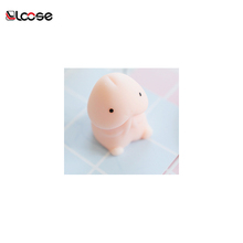 2018 new arrivals lovely Plastic penis Animal soft rubber Mochi Squishy silicone toys squeeze