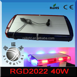 12v auto led yellow color strobe flashing emergency car light bar 12v 40w RGD2022 for emergency car heavy duty truck