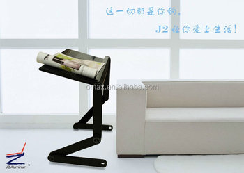 Folding lazy man laptop table for bed sofa and carpet
