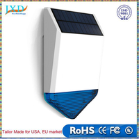 Wireless Outdoor Solar Powered Strobe Siren