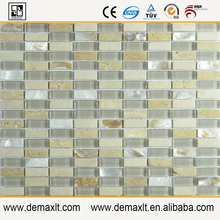 decorative glass mosaic tile color strip mix