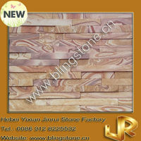 Wooden lines sandstone decorative stone wall panels