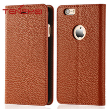 Premium quality top layer real cowhide leather case for iphone 6s