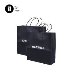 Custom printed high quality shopping cheap kraft paper bags with logos