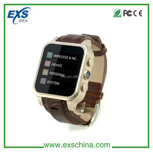 support tf card android watch phone cheapest factory waterproof IP67 android 4.4 smart watch phone fashion design