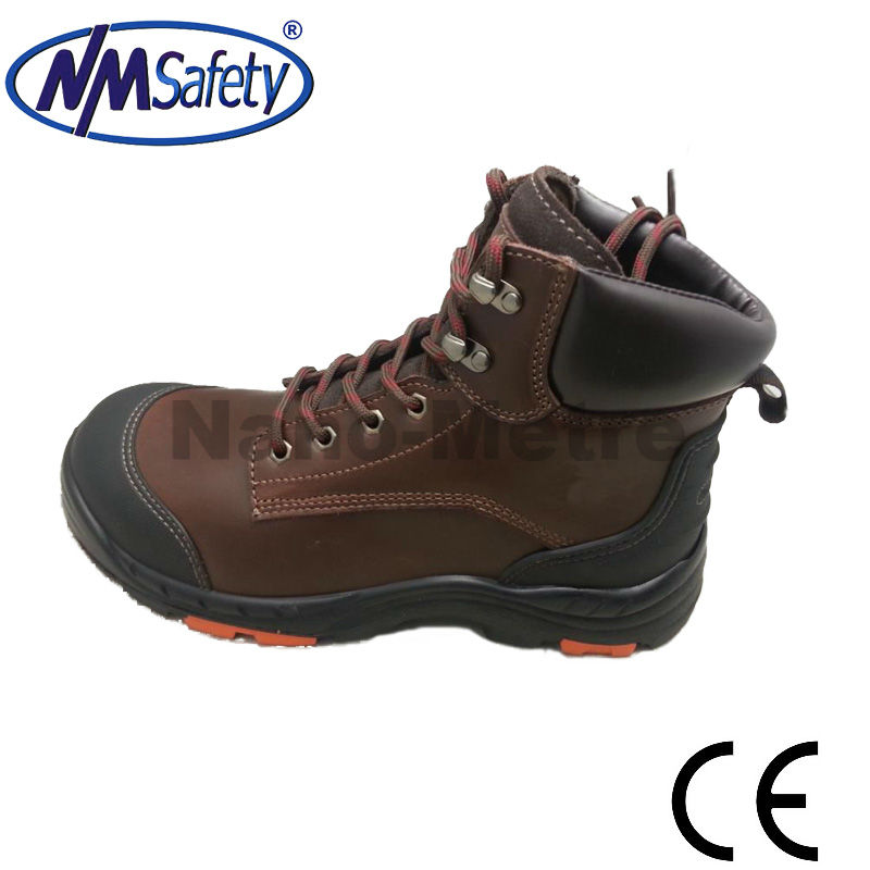 NMSAFETY buffalo leather safety shoes