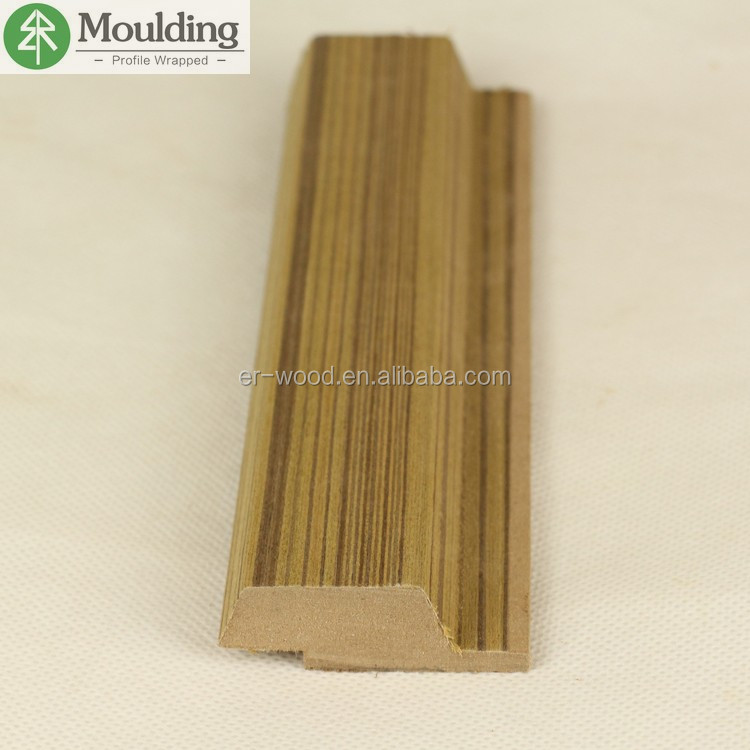 Wooden wall chair rail and joint moulding profiles