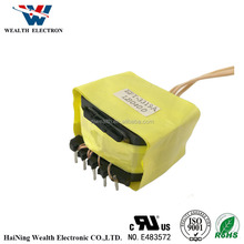 Supply free sample POT3319 -400 vertical customized high frequency single ferrite core power transformer for led driver pin6+6