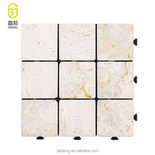 Chinese supplier limestone tiles low tile price interlocking garden stone mosaic tile