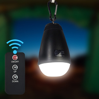 Waterproof Lithium Ion Battery Remote Control LED Camping Emergency Lamp