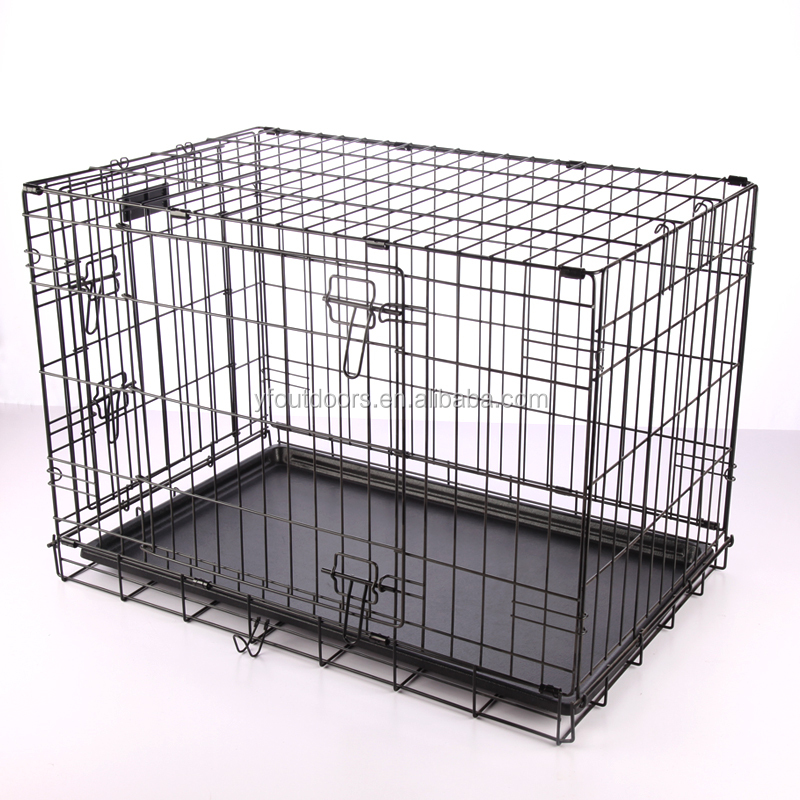 New Design Foldable Two Door Large Dog Cage