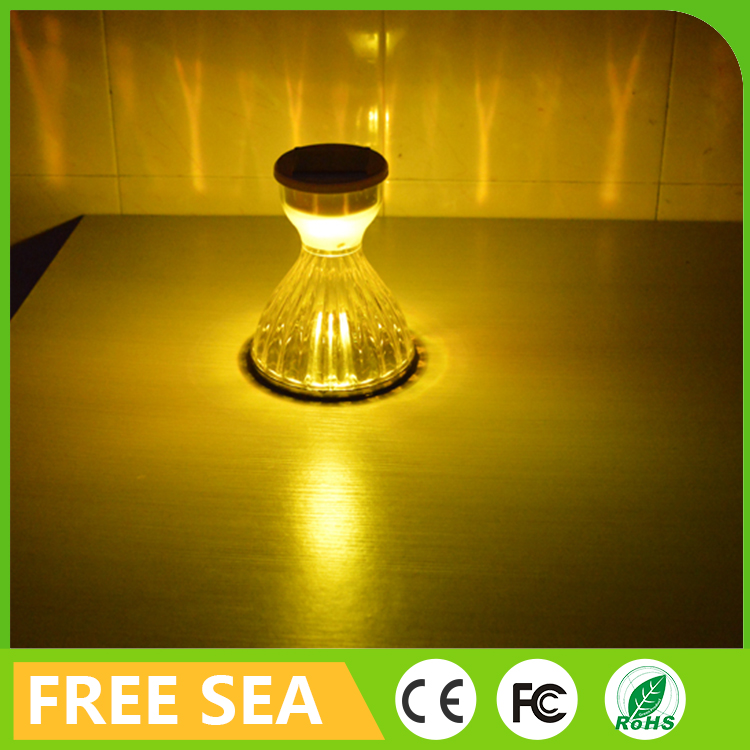Hot sale fairy dress shape eco friendly integrated insert ground garden decoration solar light