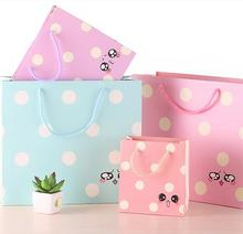 Fashion Cute 4C Printed Carton Paper Bags With Handles