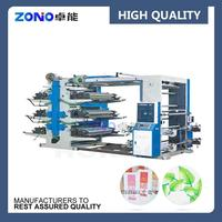 High speed fully automatic flexo paper printing machine, flexographic printer machine for sale