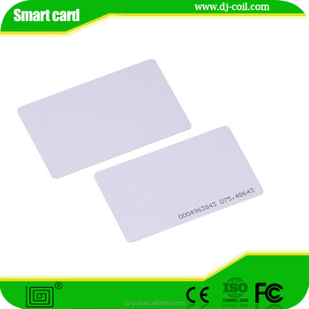 RFID blank Card with EM chip for Access control