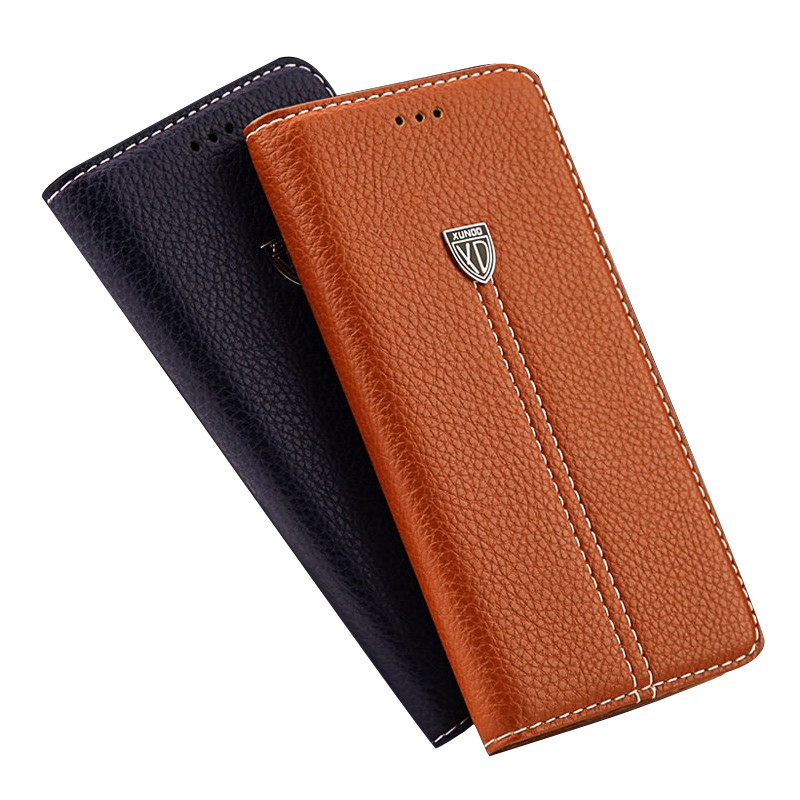 2018 New Luxury Genuine Leather Wallet Phone Case for iphone X 8 7 Plus 6 6S Plus 5 5S SE Cover