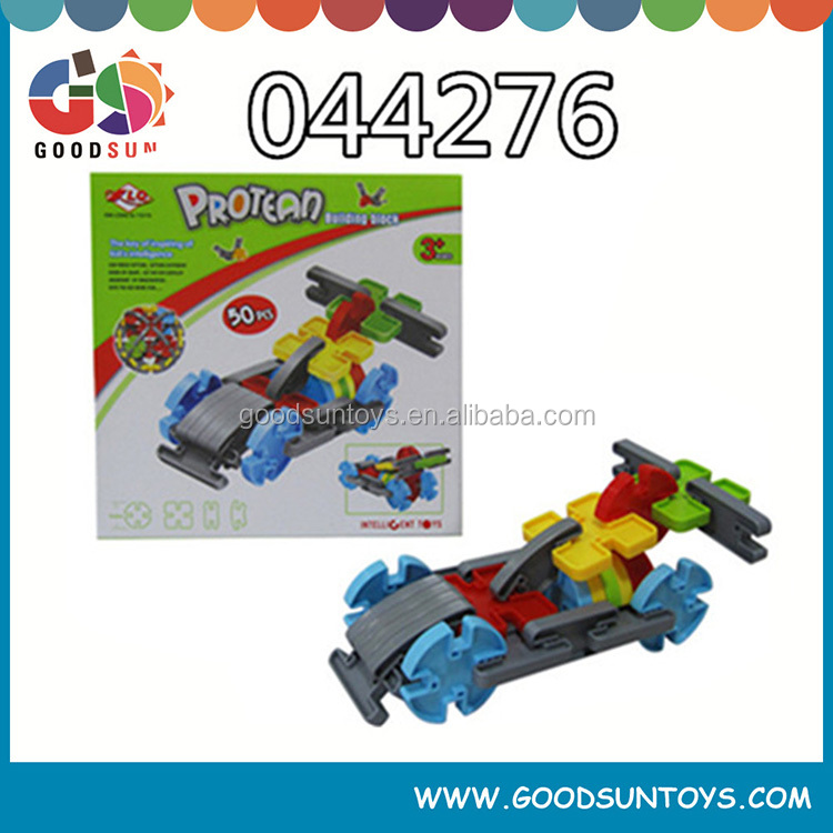 2015 new plastic car shape building blocks toys for kids
