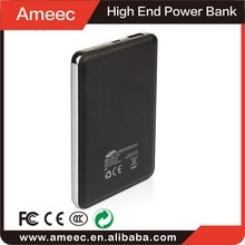 Mini Wallet Size 3800mAh Rechargeable Backup External Battery Pack Charger(black) For Iphone CE FCC ROHS Certificate