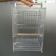 High quality clear acrylic bird carrier with two metal door