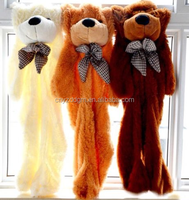 Giant teddy bear skins/unstuffed plush animal skins/ unstuffed bear skins