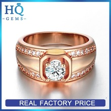 Quality new coming rose gold color plated wooden gym ring