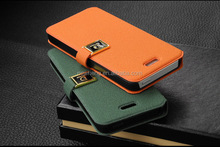 PU Folding Stand Credit Card Slot Wallet Leather Case for iPhone 5