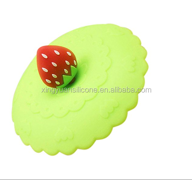 Customzized OEM universal silicone coffee tea cup lids/universal cup lid