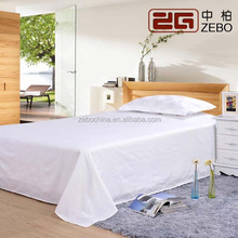 high quality customized stripe fabirc cotton white bed sheets for motels