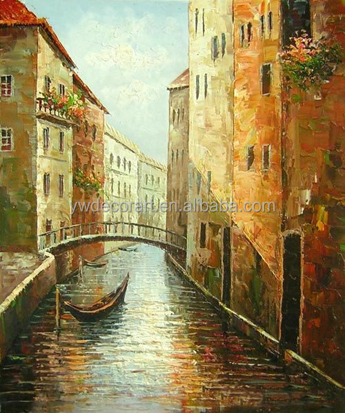 art gallery canvas painting beautiful scenery painting