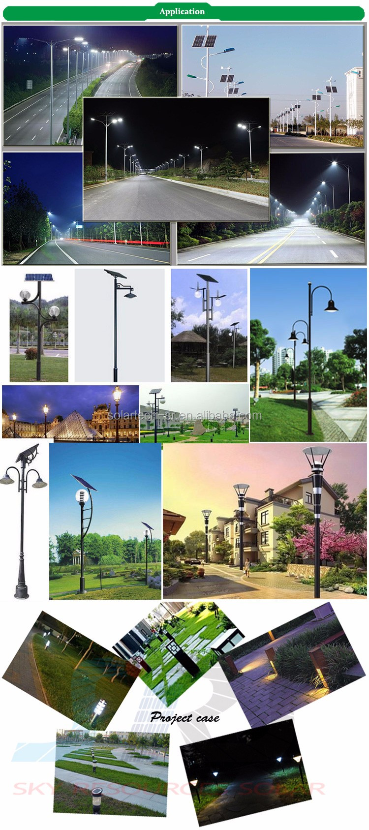 High brightness 140lm/w Project first choice IP67 solar panel led street light with pole