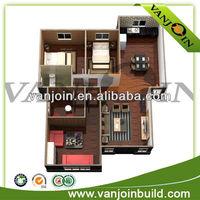 Low cost Wind proof 3d house floor plan design