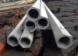 ASTM 201 316 321 high price hollow stainless steel hexagon pipe