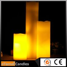 2015 NEW glitter taper candles color changing led vanilla flameless wax candles w