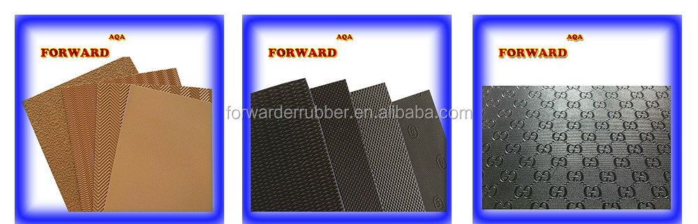 China Manufacturer of High Quality black shiny rubber sole sheet with good price