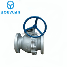 API turbine handwheel and gear operated flange water control ball valve manufacturer