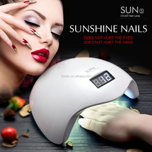 Alibaba french china new style SUN5 Sunshine White Light 36w uvled nail lamp white sun5 48w uv nail led lampada led digital nail