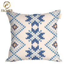 Scottish snowflakes wool-like thread woven Digital printing factory wholesale cushion cover