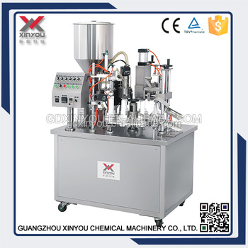 Tube filling machine,sealing machine for cosmetic cream tube packing