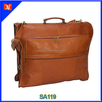 Genuine leather garment weekender bag vintage duffel bag travel bag for men wholesale