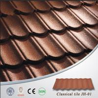 Low cost cheap stone coated metal roof tile/ asphalt roofing shingle stone coated metal roof tile