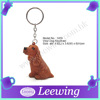 PVC Plastic Pet Dog Animal Keyring