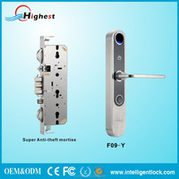 2016 newest Top Quality biometric fingerprint door lock with supper mortise