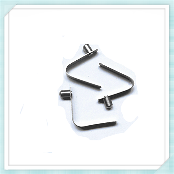 pipe tube clip V shape button spring clip flat metal clip