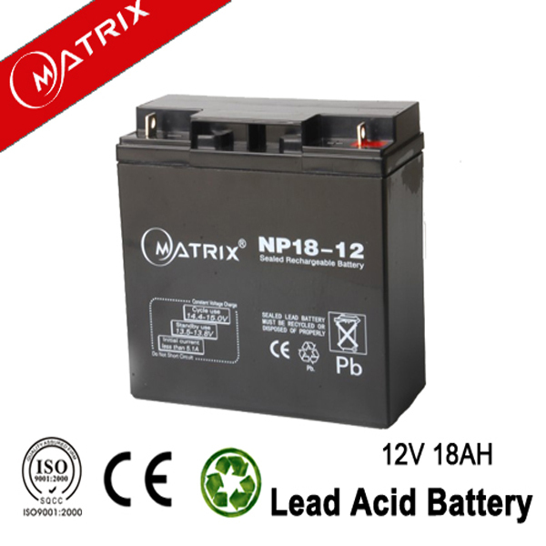 12v 18ah 20hr dry cell backup battery for security camera
