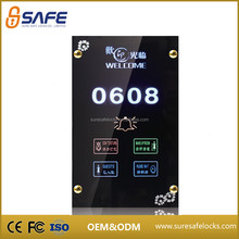Supply pretty hotel doorbell touch panel switch with cheap price