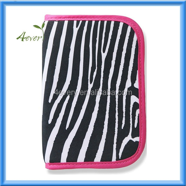 RFID Blocking Multi-function Zippered Passport Credit Debit Card Travel Document Organizer Wallet Case